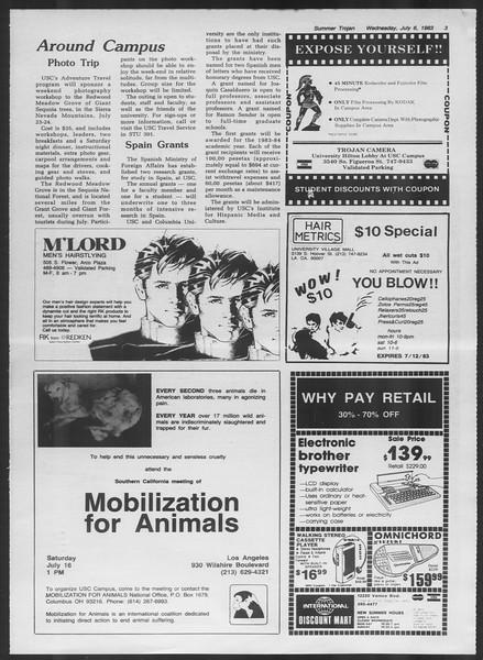 Summer Trojan, Vol. 93, No. 7, July 06, 1983