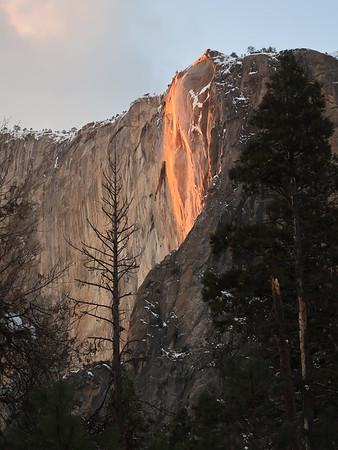 Yosemite Horsetail Falls 2019