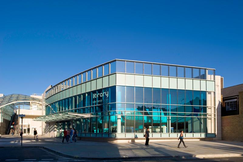 Newly built and modern Public Library, Shepherds Bush, W12, London, United Kingdom