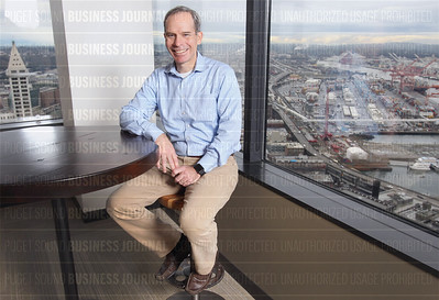 Matt McIlwain, managing director at Madrona Venture Group, is pictured at his corporate headquarters in Seattle
