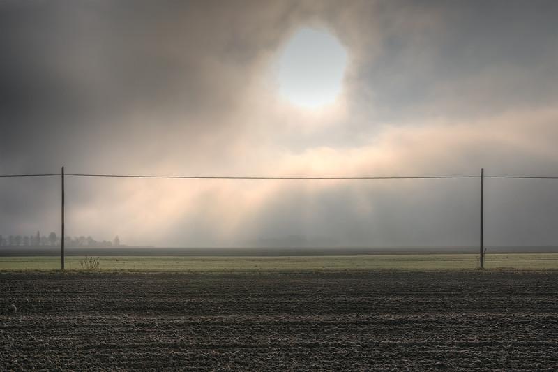 Sunrise - Nonantola, Modena, Italy - 17 November 2011