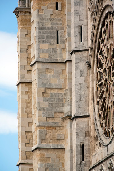 Side view of the Cathedral facade, town of Leon, autonomous community of Castilla y Leon, northern Spain