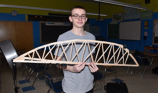 STEM Prepares For Bridge Competition photos by Gary Baker