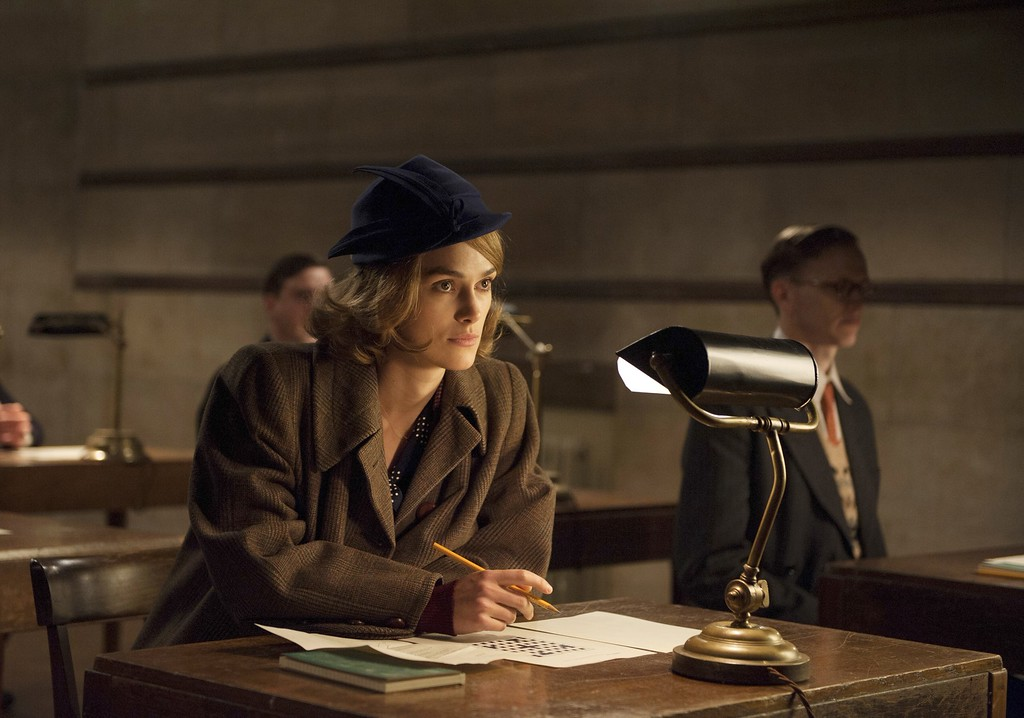 """. In this image released by The Weinstein Company, Keira Knightley, left and appears in a scene from \""""The Imitation Game.\"""" Knightley was nominated for a Golden Globe for best supporting actress in a drama for her role in the film on Thursday, Dec. 11, 2014. The 72nd annual Golden Globe awards will air on NBC on Sunday, Jan. 11.  (AP Photo/The Weinstein Company, Jack English)"""