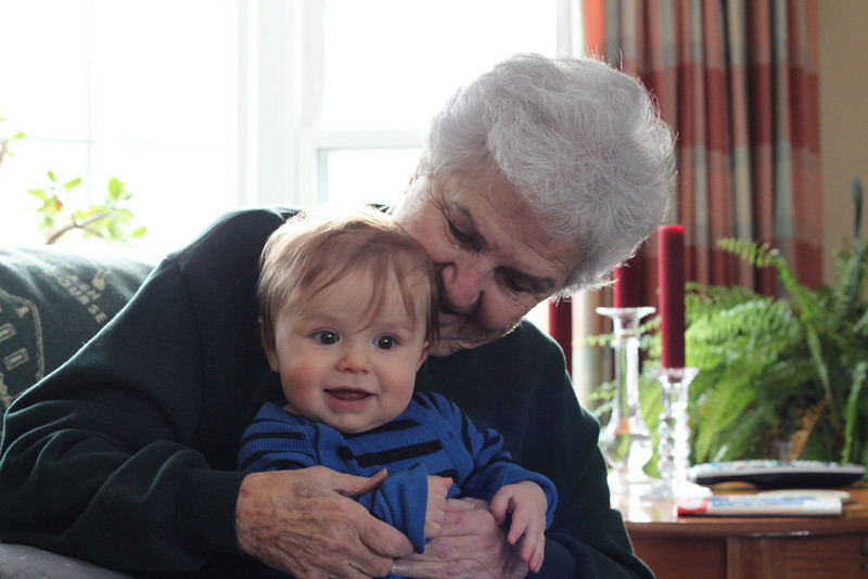 Luca meets great grandma Barb