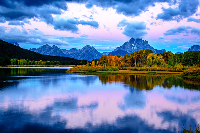 Dawn at Oxbow Bend, Wyoming