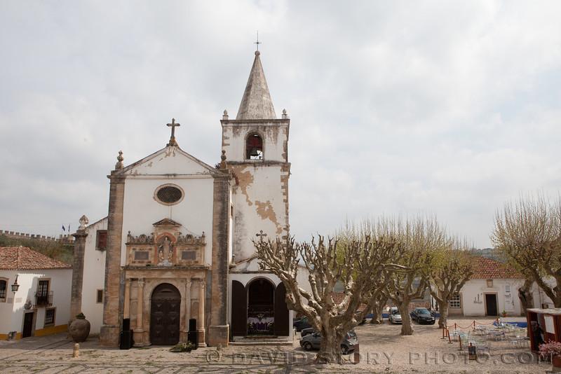 Church of Santa Maria, Obidos, Portugal.