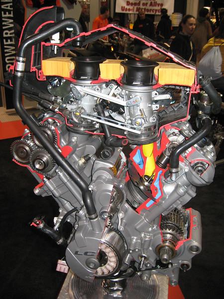 KTM engine cutaway