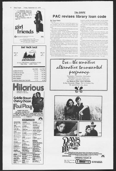 Daily Trojan, Vol. 75, No. 5, September 22, 1978