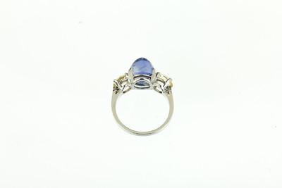 1920s Platinum, Ceylon Sapphire Ring.