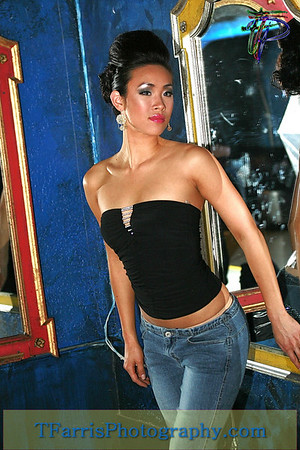 "Model known as: ""Betty"" in Blue Jeans"