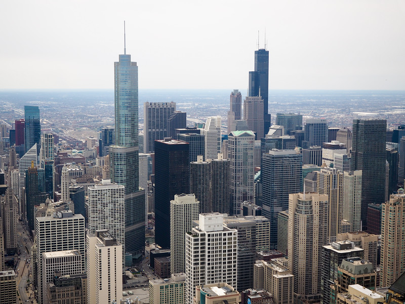 View of Chicago from John Hancock Building