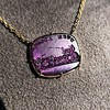 'Push Along' Purple Glass Pendant, by Seal & Scribe 11