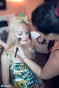 Backstage pictures of Lucia Oskerova fashion shoot in Chania Crete