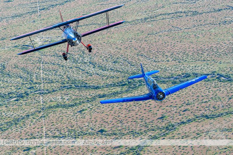 F20190314a170035_3719-North American SNJ-5 T-6 Texan-N3246G-90725-Boeing Stearman PT-17 41-8921 N450MD-450 HP.jpg