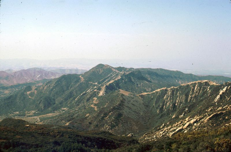 LA-78 Malibu Site - Mountain View from Fire Control Area - Aug 1966