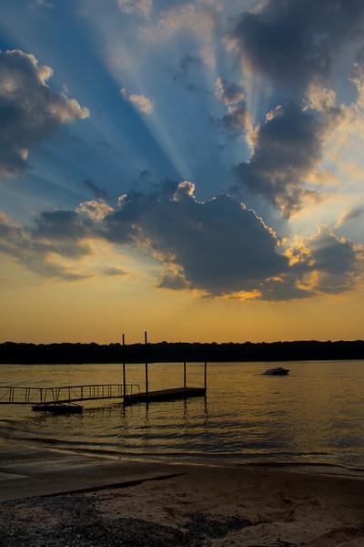 Sunset at Lake Thunderbird State Park
