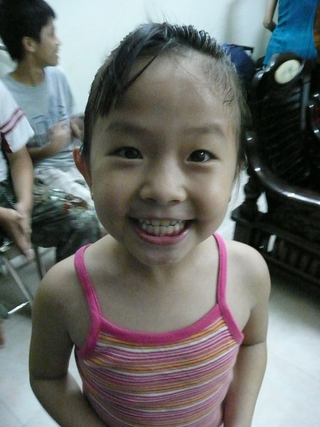 I taught her a bunch of patty cake games. I can count really well in Viet.
