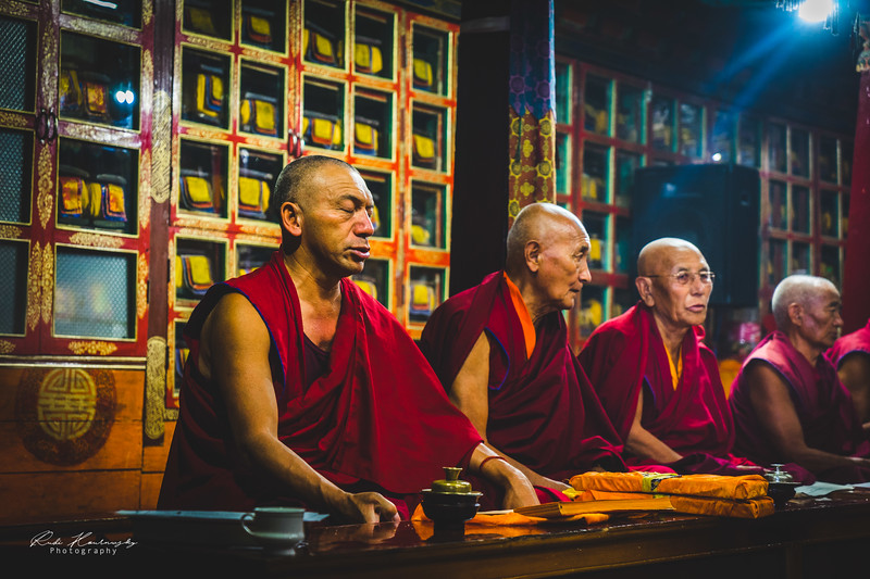 Monks in Spituk Monastery