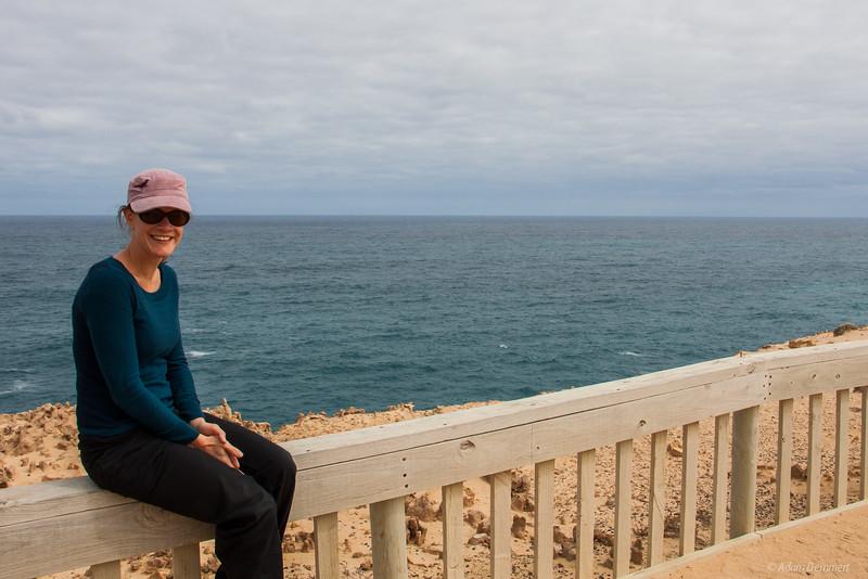Cath enjoying the view, Limestone Coast