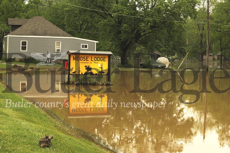 Flooding of the Connoquenessing at the Moose Lodge in May of 2019. Seb Foltz/Butler Eagle