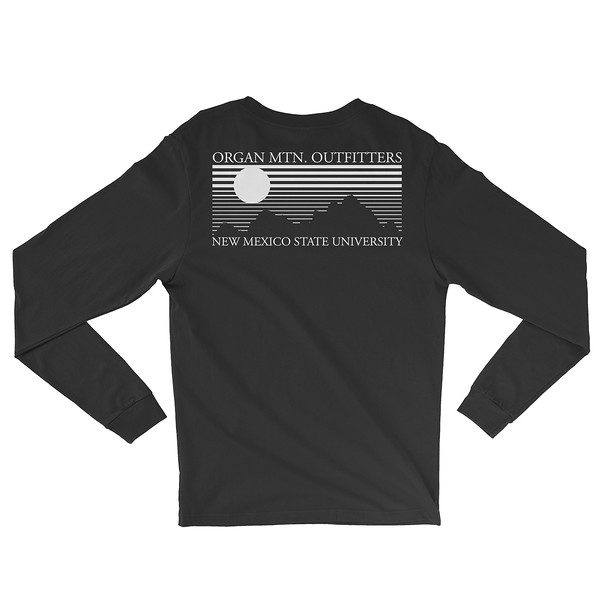 Outdoor Apparel - Organ Mountain Outfitters - Mens - Aggie OMO NMSU Long Sleeve Shirt - Black White Back.jpg