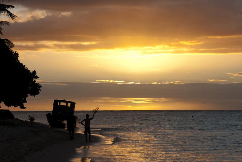 Sunset in Savaii - Samoa