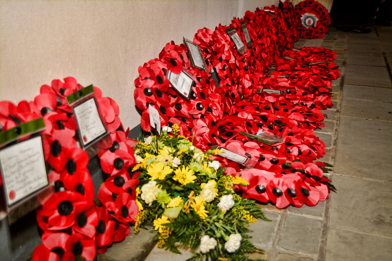 Gibraltar - 11th November 2014 - Civilian, religious and military organisation from across GIbraltar today joined to commemorate Armistice Day at the lobby of Parliament House in Gibraltar with a two minute silence. As part of the ceremony representatives from the different organisations which included all law enforcement bodies, military establishments and religious organisation laid wreaths at the lobby. Following the ceremony the Chief Minister Fabian Picardo unvieled a plaque commemorating the Hindu communities involvement during the World War.