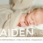 Kaiden Birth Announcement 2