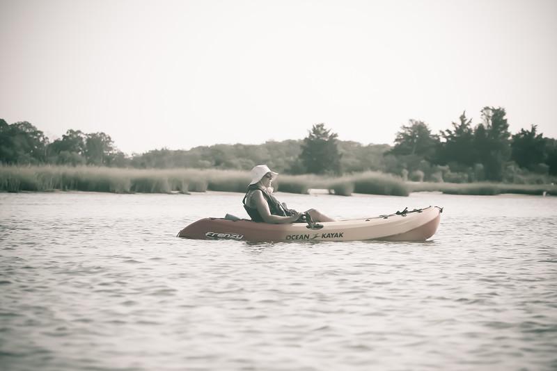 Kayaking at Sebonac Creek, Southampton, NY.