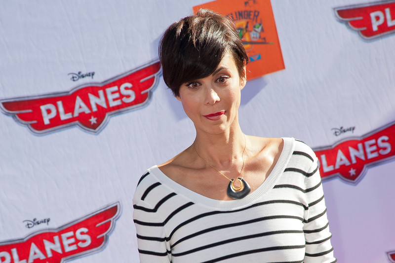 HOLLYWOOD, CA - AUGUST 05: Actress Catherine Bell arrives at the Los Angeles premiere of 'Planes' at the El Capitan Theatre on Monday August 5, 2013 in Hollywood, California. (Photo by Tom Sorensen/Moovieboy Pictures)