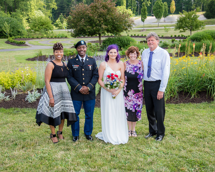 Amber Escher and Malik Frenzley's wedding day in Monroeville, PA on July 1, 2016.