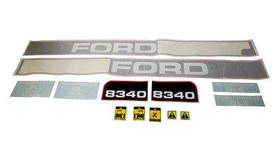 FORD 8340 SERIES BONNET DECAL SET