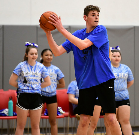 4/5/2019 Mike Orazzi | Staff Donovan Clingan during Friday's Bristol's All Star Basketball Game held at the Boys & Girls Club of Bristol Family Center on West Street.