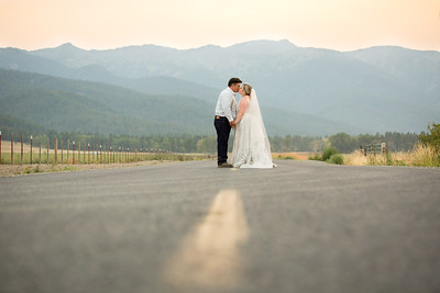 Bo and Kassie Mountain Wedding Ceremony and Reception in Baker City, OR