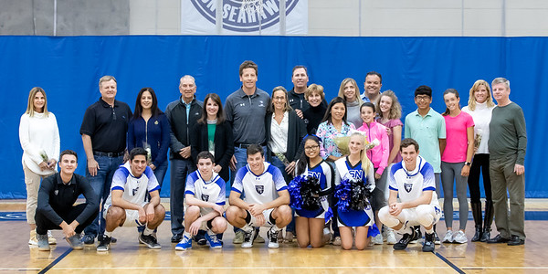 CSN Boys Varsity Basketball and Cheer- Senior Night