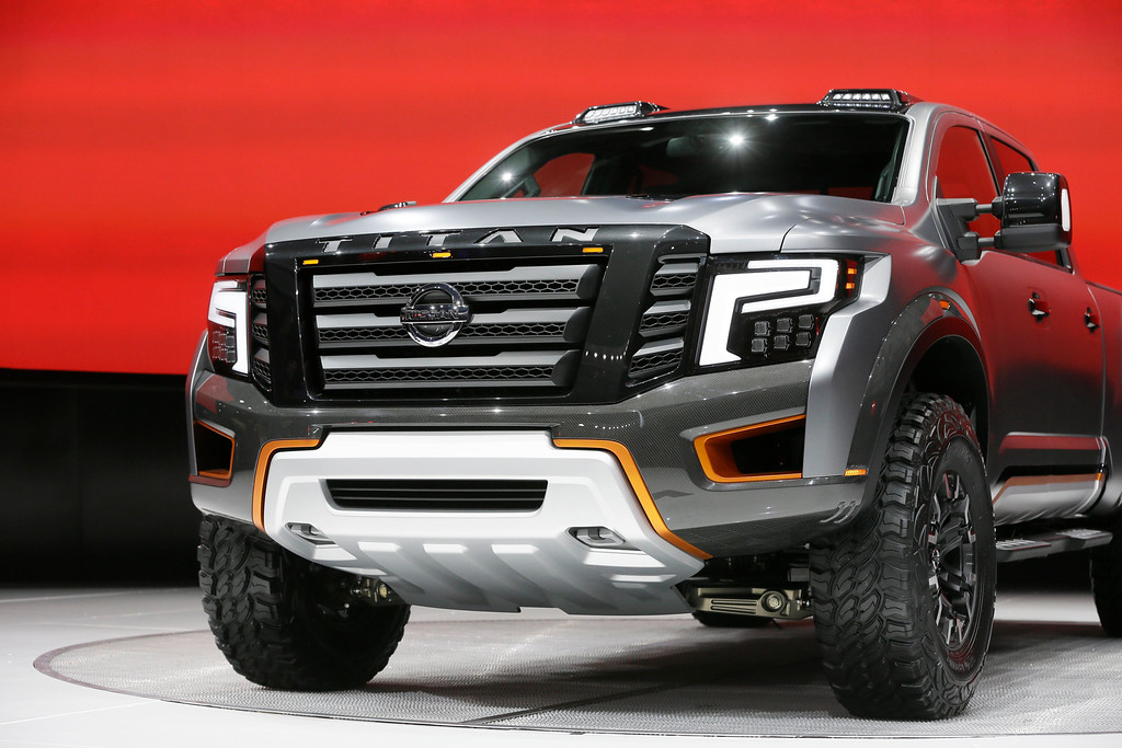 . The Titan Warrior concept is unveiled at the North American International Auto Show, Tuesday, Jan. 12, 2016, in Detroit. (AP Photo/Carlos Osorio)