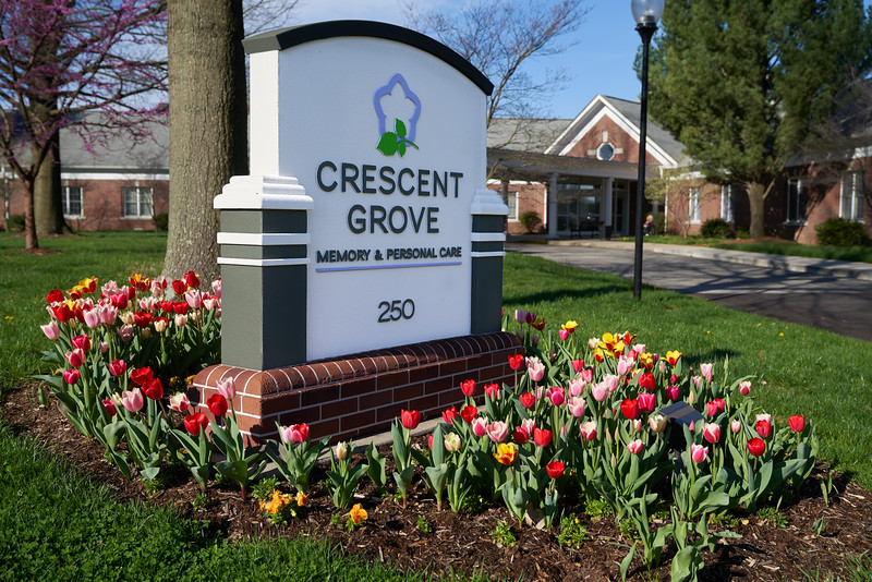 Crescent Grove Sign