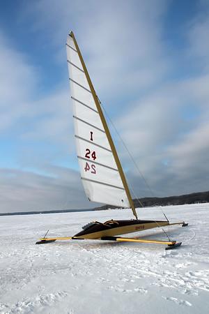 Ice Boating in Lake Geneva