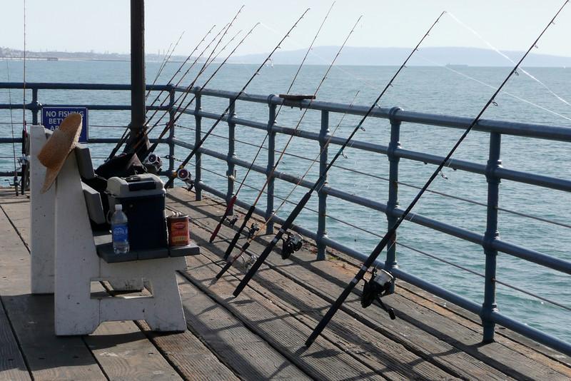 Auto-fishing. Santa Monica Pier, Santa Monica