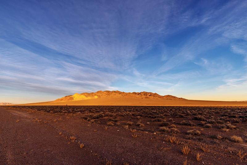 Last Glow of the Nevada Desert