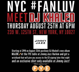 Meet DJ Khaled at Jimmy Jazz