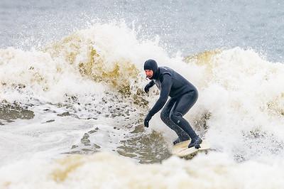 Dave Sexter Surfing Long Beach 2-28-21