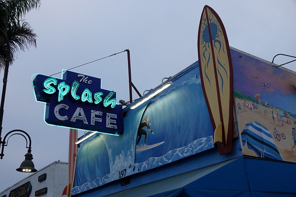 The Splash Cafe is one of the most popular restaurants in Pismo Beach, attracting long lines for their clam chowder
