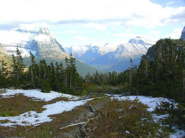Logan Pass in Glacier National Park in Montana