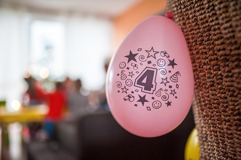 Rosa Luftballon 4