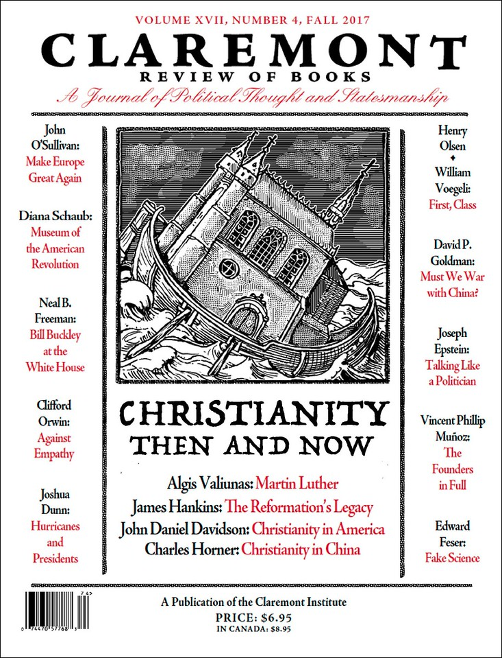 Cover Fall Claremont Review of Books