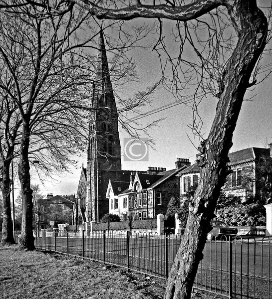 Queen's Dr., with Queen's Park High.   This was my mother's church, and it's probably a mercy she didn't live to see it converted into luxury flats by Quality Street.  December 1975