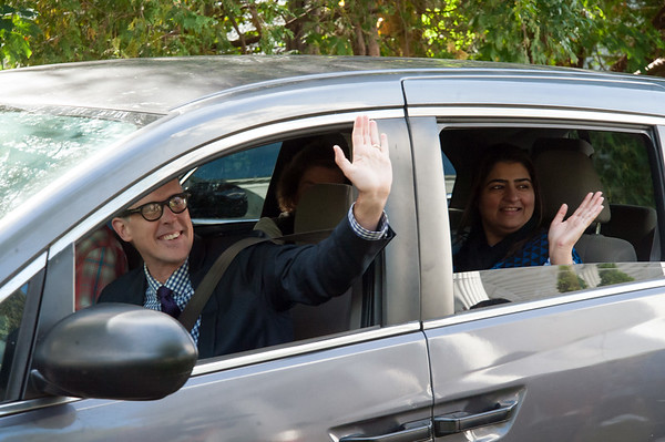 10/16/18 Wesley Bunnell | Staff Rev. Steve Jungkeit drives Zahida Altaf and Malik Naveed Vin Rehman, not shown, back home to New Britain from First Congregational Church of Old Lyme on Tuesday afternoon after the couple held a press conference announcing they were leaving sanctuary at the church while awaiting their deportation case which is pending before the 2nd Circuit Court of Appeals. The couple had taken sanctuary at the church in March after being ordered by Customs Enforcement (ICE) to leave the United States by March 19th.