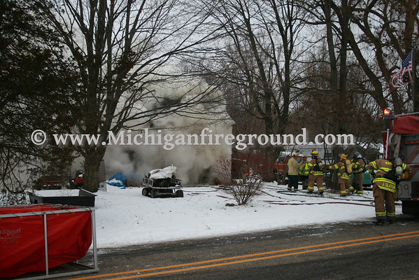 12/24/09 - Mason house fire, 800 Rolfe Rd